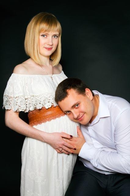 Беременная с мужем - фотосессия в Ростове-на-Дону