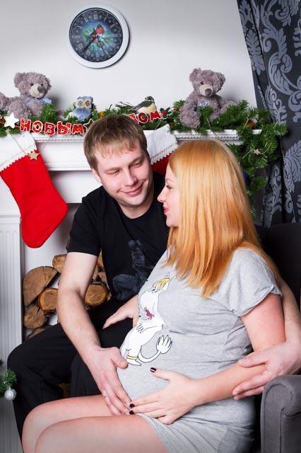 Фотосессия беременной на Новый Год